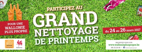 Grand nettoyage de Printemps 2017