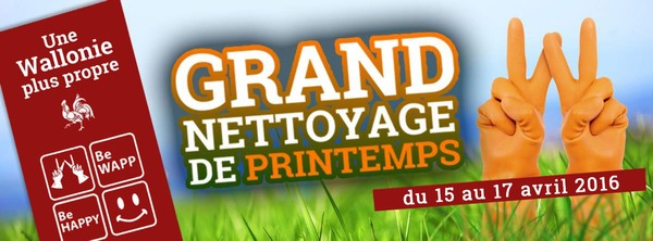 Grand nettoyage de Printemps 2016