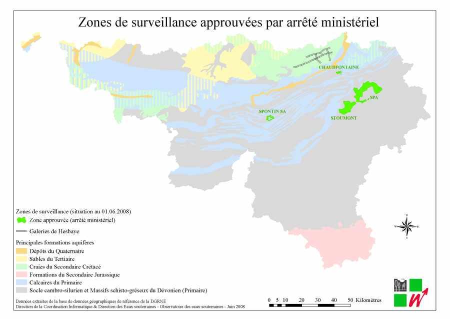 Carte hydrogéologique de wallonie