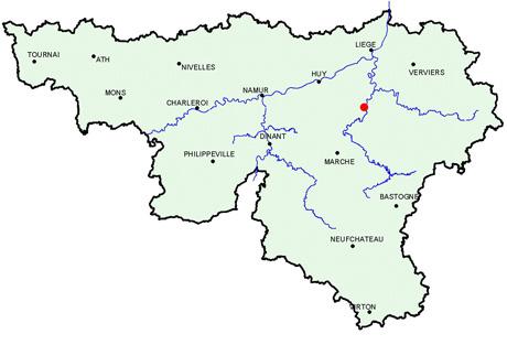 Carte Belgique Hamoir.Fontaine De Rivire Grotte De